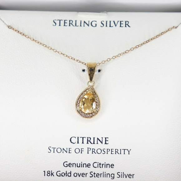 citrine Jewelry - Citrine (7/8 ct. t.w.) and Diamond Accent Teardrop